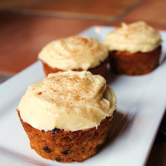Moist Carrot Apple Muffins