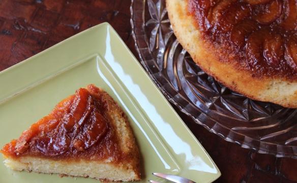 Caramel Nectarine Upside-Down Cake