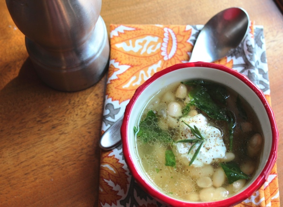 Great Northern Bean and Spinach Soup