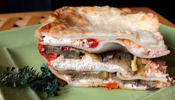 Vegetable Lasagna with handmade noodles