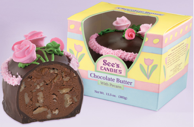 See's Candies Chocolate Butter Egg