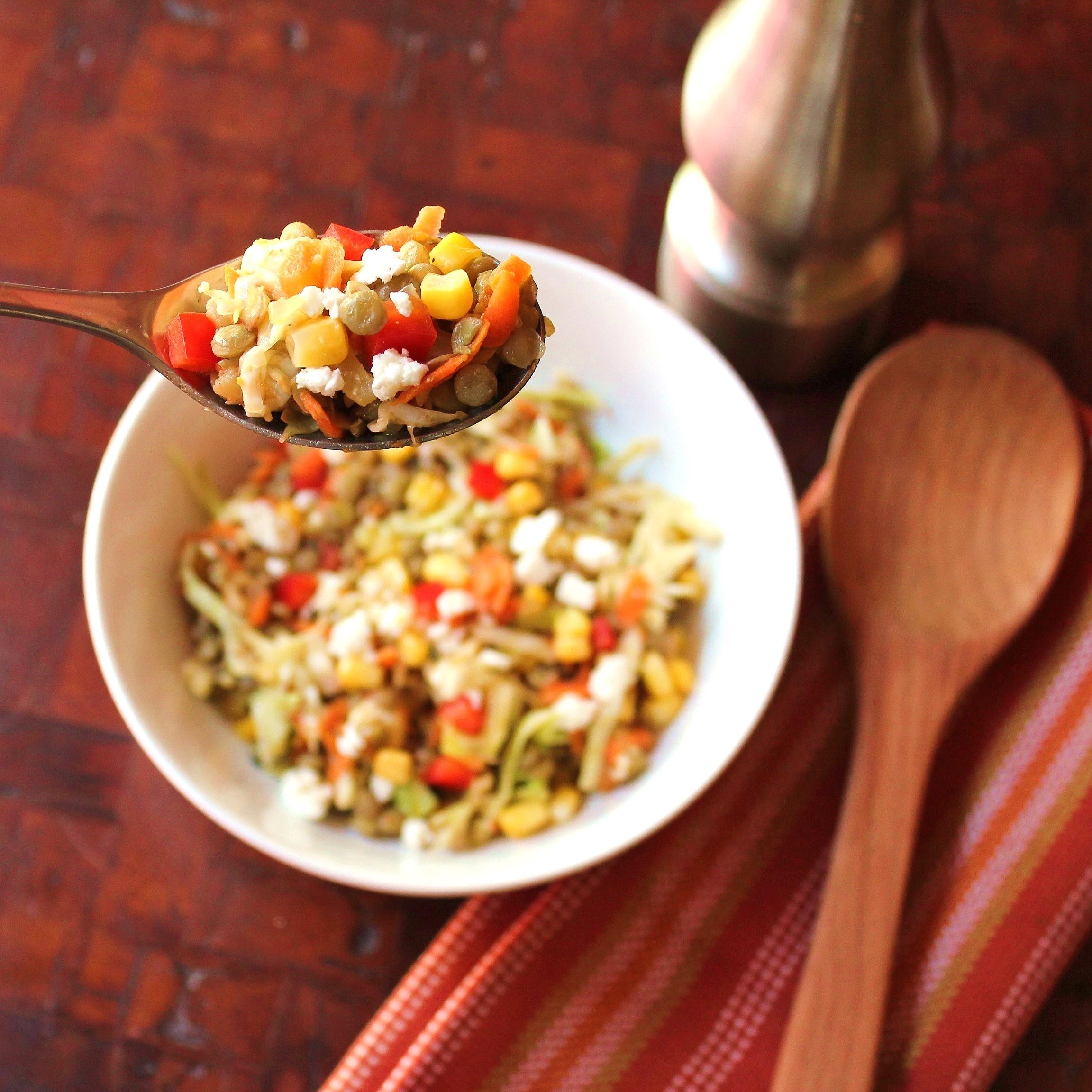 A spoonful of Summer Lentil Salad