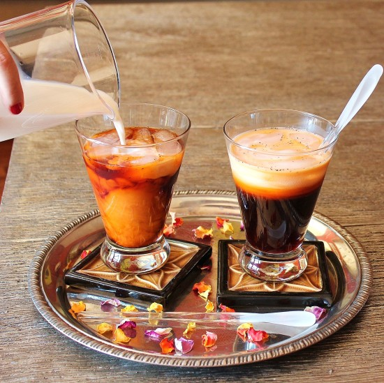 Two glasses of refreshing Thai Iced Tea