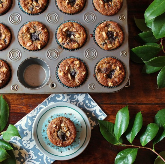 Moist Banana Cherry Muffins