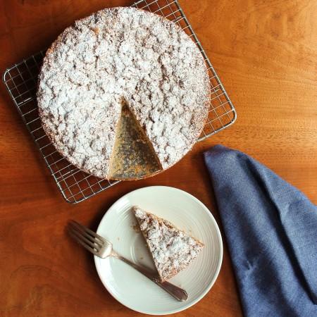 Crumb Cake Flat Lay