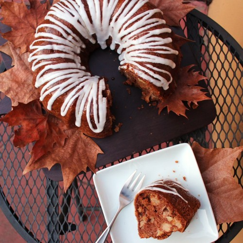Sliced Autumn Apple Cake