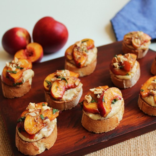 Nectarine and Ricotta Bruschetta