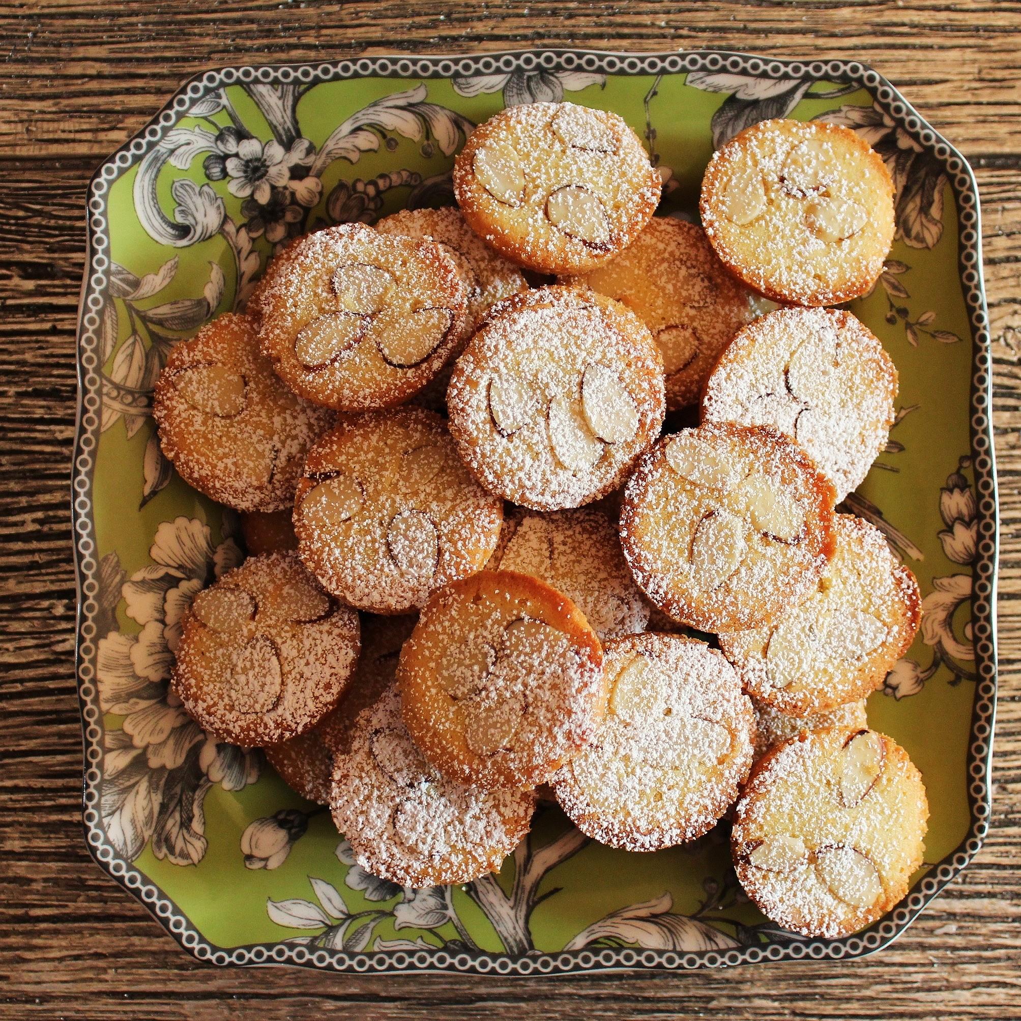 A plate of mini gateaux bretons